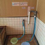 二股らぢうむ温泉男性用浴室の炭酸水と真水