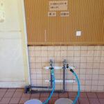 二股らぢうむ温泉女性用浴室の炭酸水と真水