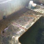 濁川温泉新栄館混浴風呂『菊の湯』溢れ出し