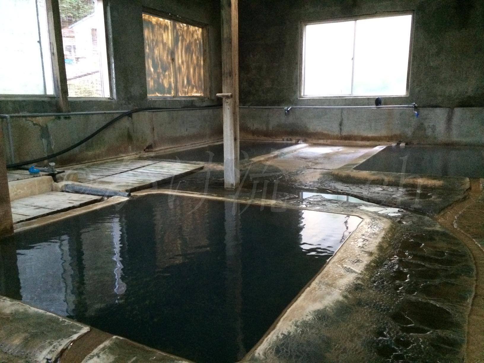 濁川温泉新栄館に宿泊し油臭が香る絶品混浴風呂を独り占め!