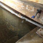 濁川温泉新栄館女性用浴槽湯口