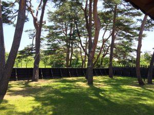 函館奉行所の庭