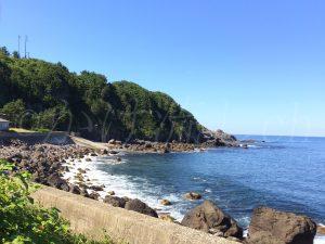 水無海浜温泉海岸線
