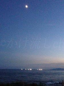 湯元漁火館から見る漁火